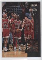 Chicago Bulls Team, Michael Jordan, Dennis Rodman, Toni Kukoc