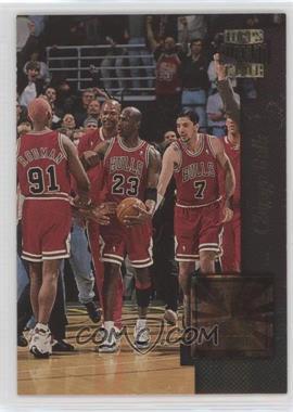 1996-97 Topps Stadium Club - Golden Moments #GM 3 - Chicago Bulls Team