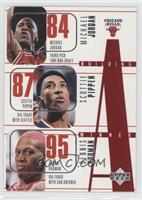 Michael Jordan, Scottie Pippen, Dennis Rodman, Toni Kukoc, Ron Harper