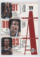 Cleveland Cavaliers Team, Terrell Brandon, Danny Ferry, Tyrone Hill, Bobby Phil…