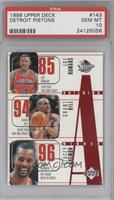 Joe Dumars, Grant Hill, Stacey Augmon, Lindsey Hunter, Theo Ratliff [PSA 1…