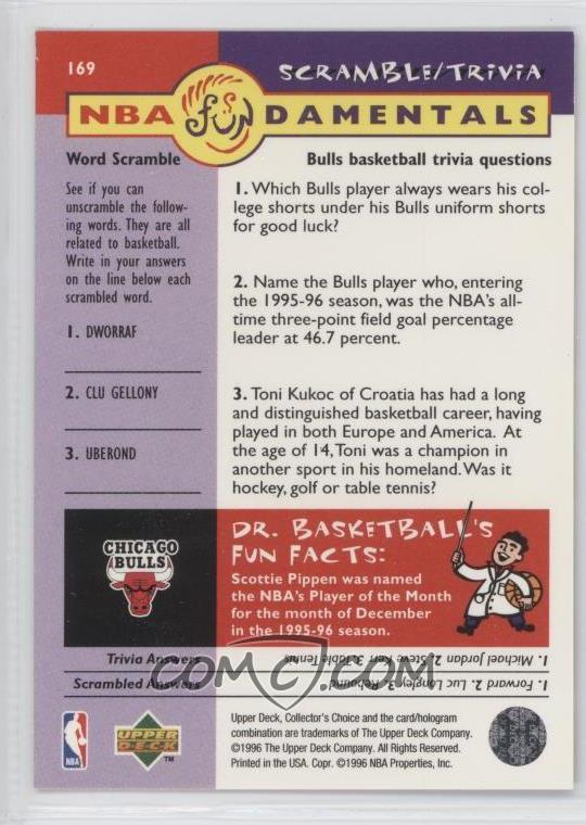 1996-97 Upper Deck Collector's Choice - [Base] #169 - Scottie Pippen