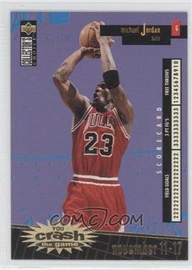 1996-97 Upper Deck Collector's Choice - Redemption You Crash the Game Series 1 - Gold #C30.1 - Michael Jordan (november 11-17)
