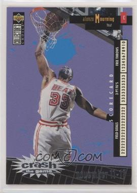 1996-97 Upper Deck Collector's Choice - Redemption You Crash the Game Series 1 - Silver #C14.1 - Alonzo Mourning (Nov. 11-17)