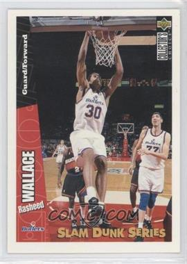 1996-97 Upper Deck Collector's Choice - Slam Dunk Series #40 - Rasheed Wallace