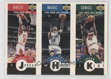 1996-97 Upper Deck Collector's Choice - Upper Deck Mini-Cards - Gold #MKHJ - Michael Jordan, Anfernee Hardaway, Shawn Kemp