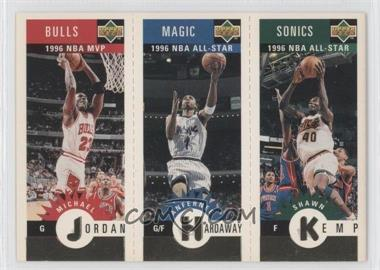 1996-97 Upper Deck Collector's Choice - Upper Deck Mini-Cards - Gold #MKHJ - Michael Jordan, Anfernee Hardaway, Shawn Kemp