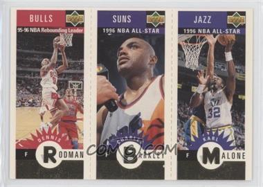 1996-97 Upper Deck Collector's Choice - Upper Deck Mini-Cards - Gold #MMBR - Dennis Rodman, Charles Barkley, Karl Malone