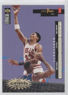 1996-97 Upper Deck Collector's Choice International French - You Crash the Game - Gold #C4.1 - Scottie Pippen (December 2-8)