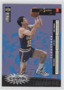 1996-97 Upper Deck Collector's Choice International French - You Crash the Game - Silver #C27 - John Stockton