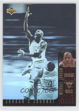 1996-97 Upper Deck Collector's Choice International Italian - Jordan's Journal #J5 - Michael Jordan