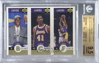 Kobe Bryant, Elden Campbell, Derek Fisher [BGS9.5GEMMINT]