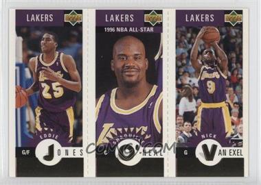1996-97 Upper Deck Collector's Choice Team Sets - Los Angeles Lakers #L2 - Eddie Jones, Shaquille O'Neal, Nick Van Exel