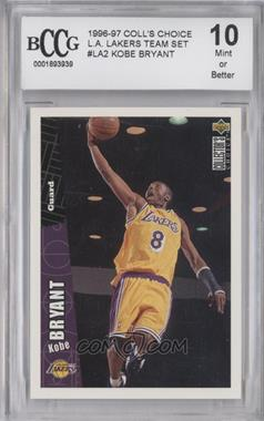 1996-97 Upper Deck Collector's Choice Team Sets - Los Angeles Lakers #LA2 - Kobe Bryant [ENCASED]
