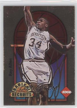 1996 Edge - Radical Recruits - Gold #2 - Ray Allen /1000