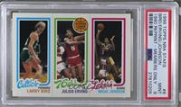 Larry Bird, Julius Erving, Magic Johnson [PSA 9]