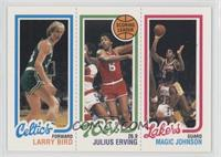 Larry Bird, Julius Erving, Magic Johnson