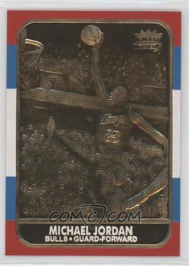 1997-00 23KT Gold Card Fleer Reprints - Rookies #J867.4 - Michael Jordan 1986-87 (Color Border)