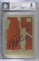 Michael Jordan 1986-87 (Gold Border, Ball Color/Texture Background, Black Signa…