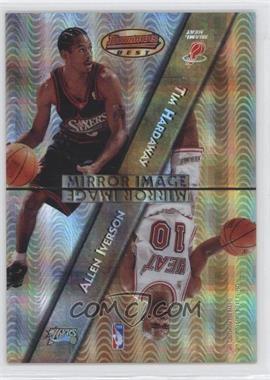 1997-98 Bowman's Best - Mirror Image - Atomic Refractor #MI3 - Tim Hardaway, Allen Iverson, Jason Kidd, Bobby Jackson