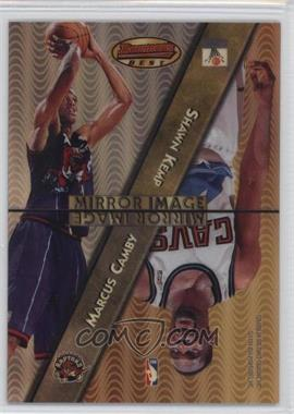 1997-98 Bowman's Best - Mirror Image - Refractor #MI6 - Shawn Kemp, Tim Duncan, David Robinson, Marcus Camby