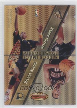 1997-98 Bowman's Best - Mirror Image - Refractor #MI9 - Kerry Kittles, Reggie Miller, Tony Battie, Hakeem Olajuwon