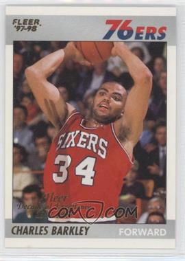 1997-98 Fleer - Decade of Excellence #1 - Charles Barkley