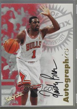 1997-98 Skybox Premium - Autographics - [Autographed] #RABR - Randy Brown