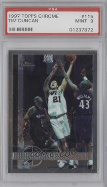 1997-98 Topps Chrome - [Base] #115 - Tim Duncan [PSA 9]