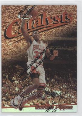 1997-98 Topps Finest - [Base] - Refractor #1 - Scottie Pippen