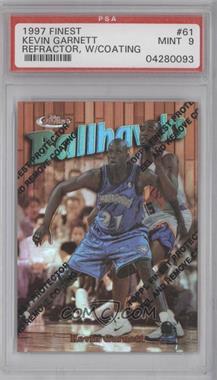 1997-98 Topps Finest - [Base] - Refractor #61 - Kevin Garnett [PSA9]
