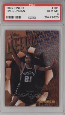 1997-98 Topps Finest - [Base] #101 - Tim Duncan [PSA10GEMMT]