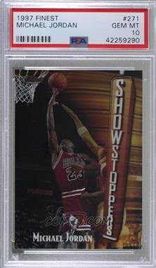 1997-98 Topps Finest - [Base] #271 - Michael Jordan [PSA10GEMMT]