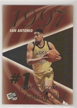 1997 Press Pass Double Threat - Lottery Club #LC 1A - Tim Duncan