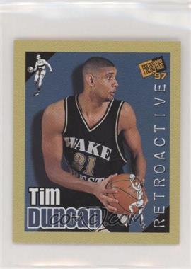 1997 Press Pass Double Threat - Retroactive #34 - Tim Duncan