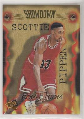 1997 Press Pass Double Threat - Showdown #S5 - Scottie Pippen, Ron Mercer