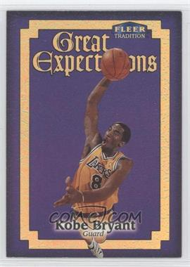 1998-99 Fleer Tradition - Great Expectations #3GE - Kobe Bryant