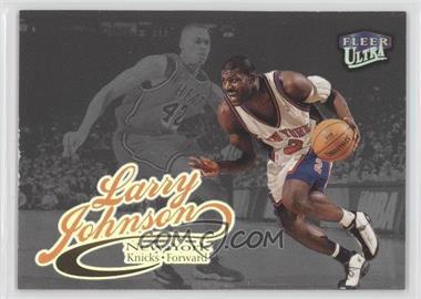 1998-99 Fleer Ultra - [Base] - Platinum Medallion #47P - Larry Johnson /99
