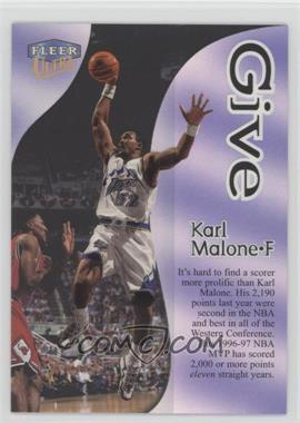 1998-99 Fleer Ultra - Give & Take #10GT - Karl Malone