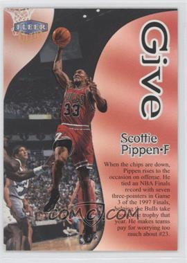 1998-99 Fleer Ultra - Give & Take #5GT - Scottie Pippen