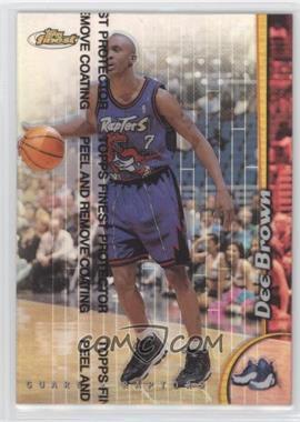 1998-99 Topps Finest - [Base] - Refractor #153 - Dee Brown