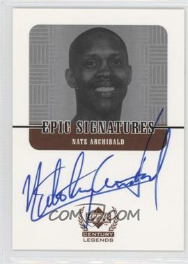 1998-99 Upper Deck Century Legends - Epic Signatures #NA - Nate Archibald