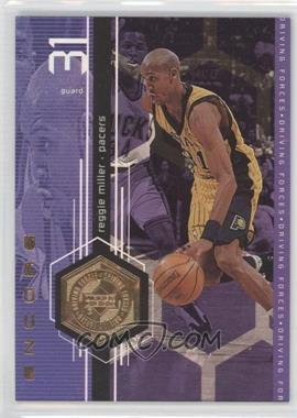 1998-99 Upper Deck Encore - Driving Forces - F/X #F11 - Reggie Miller /500