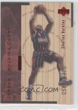 1998-99 Upper Deck Hardcourt - Jordan - Holding Court - Red #J10 - Charles Barkley, Michael Jordan /2300