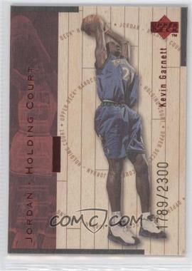 1998-99 Upper Deck Hardcourt - Jordan - Holding Court - Red #J16 - Kevin Garnett, Michael Jordan /2300