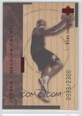 1998-99 Upper Deck Hardcourt - Jordan - Holding Court - Red #J20 - Allen Iverson, Michael Jordan /2300