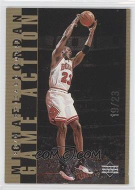 1998-99 Upper Deck Michael Jordan Living Legend - Game Action - Gold #G28 - Michael Jordan /23