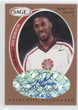 1998 SAGE - Authentic Autograph - Bronze #A11 - Michael Dickerson /650
