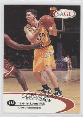 1998 SAGE - Authentic Autograph - Bronze #A13 - Bryce Drew /650
