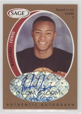 1998 SAGE - Authentic Autograph - Bronze #A23 - Rashard Lewis /650